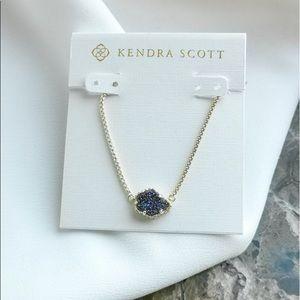 NWOT Kendra Scott 14k gold Tess Necklace Drusy
